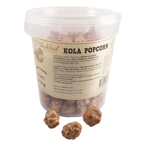 Kolapopcorn i Hink - 250 gram