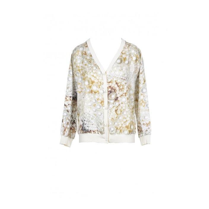 Boutique Moschino Women's Cardigan Beige 171822 - beige 36