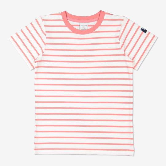 Stripet T-skjorte rosa