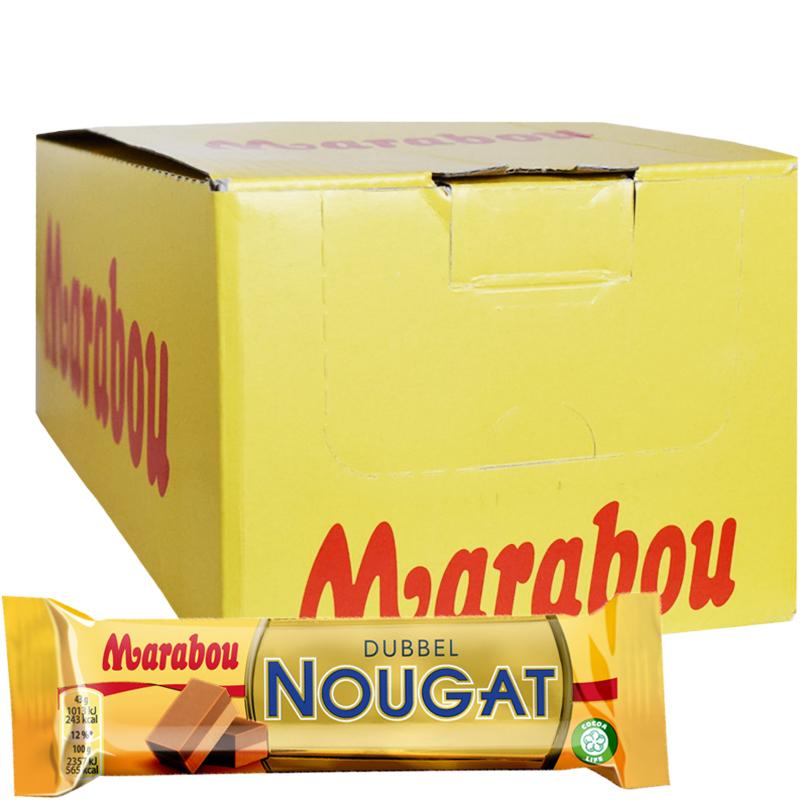 """Laatikollinen """"Dubbel Nougat"""" Suklaapatukoita 42 x 43g - 31% alennus"""