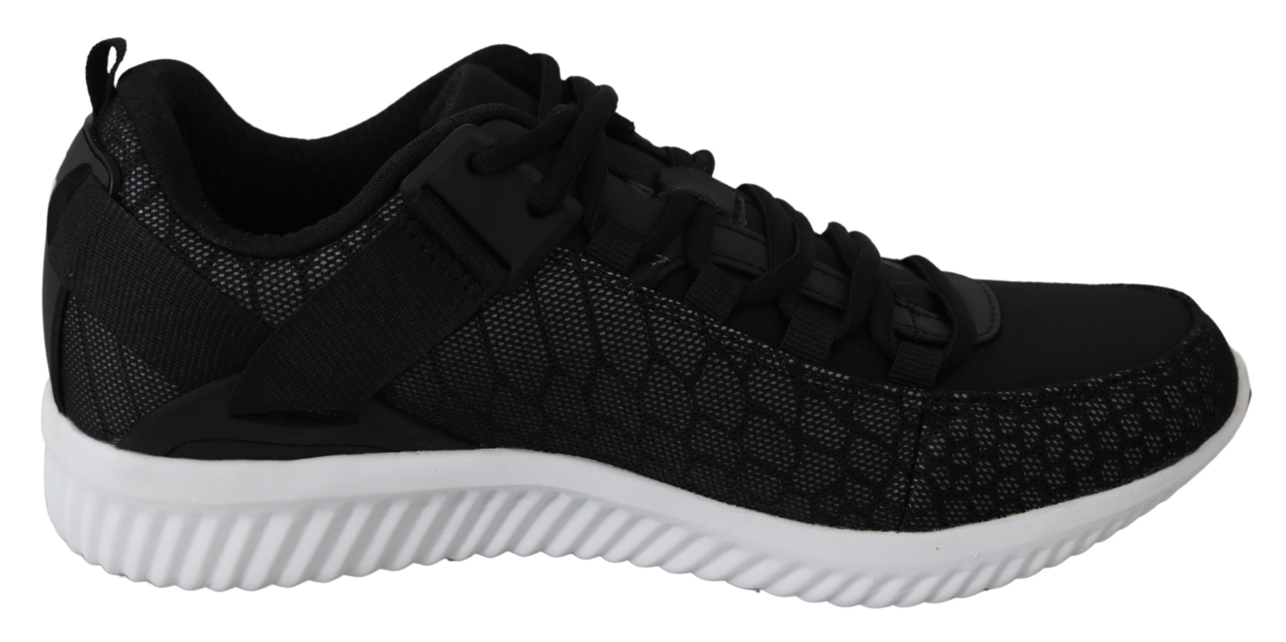 Black Polyester Adrian Sneakers Shoes - EU45/US12