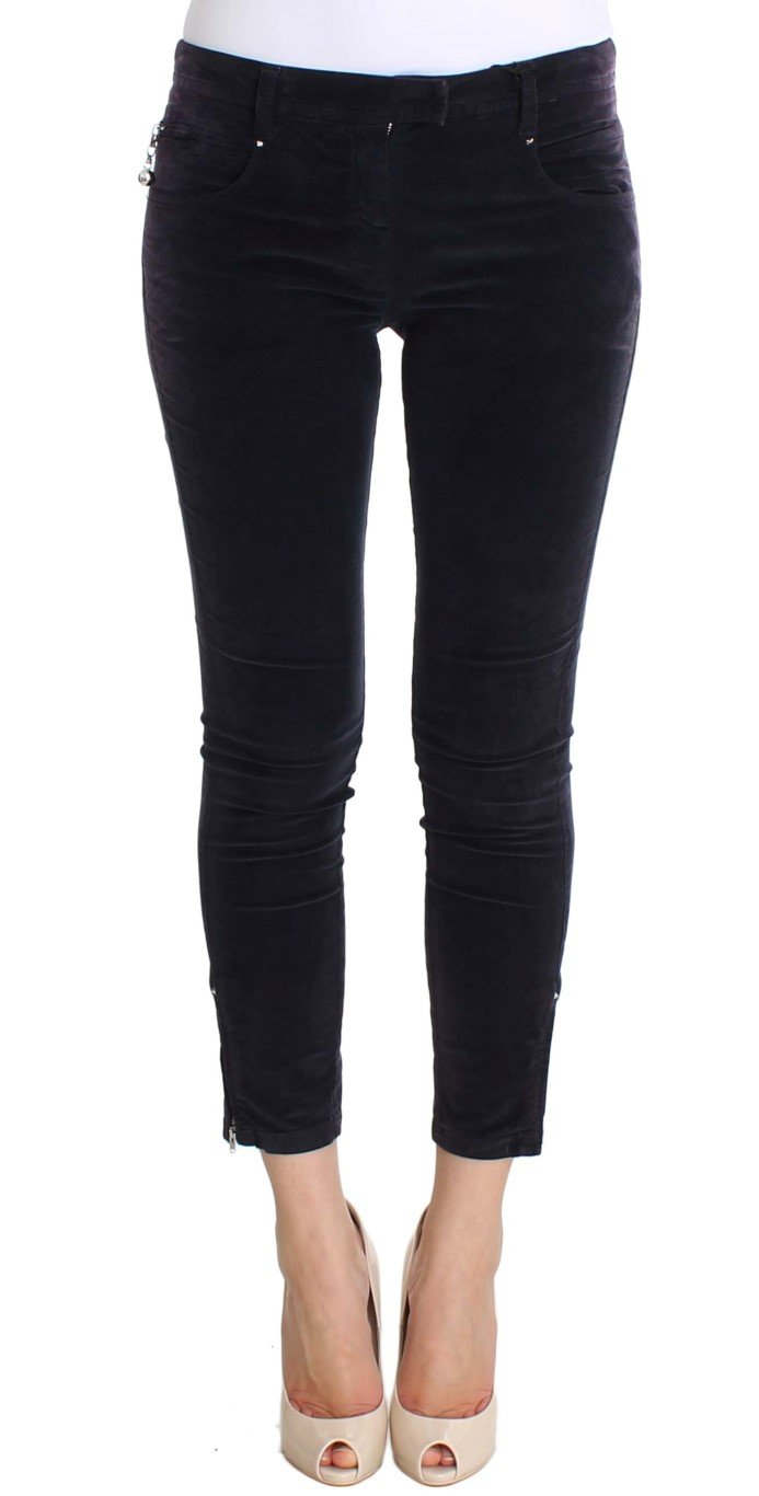 Costume National Women's Cropped Corduroys Jeans Purple SIG30157 - W26