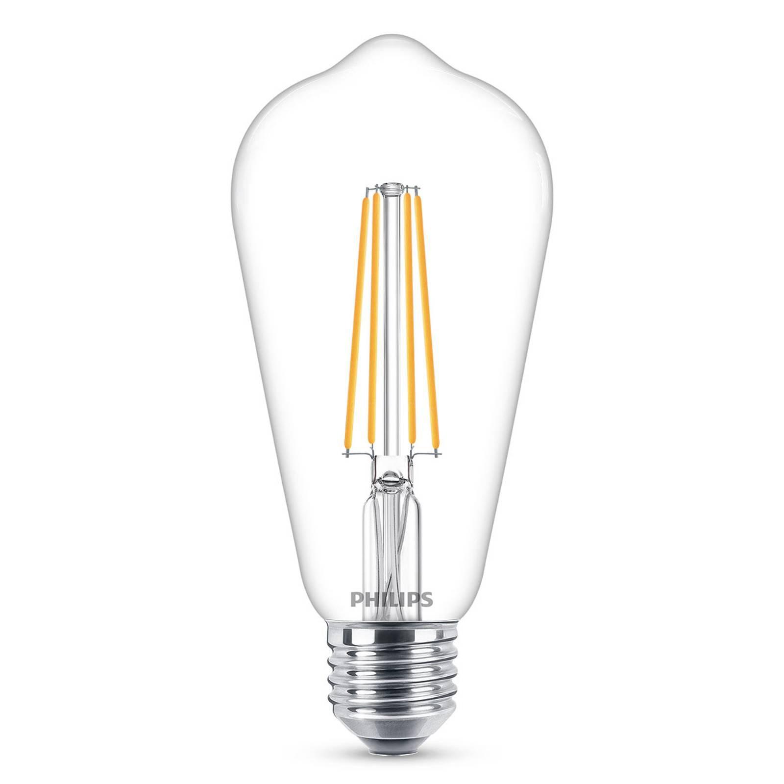 Philips E27 LED-pære filament 4,3W 2 700K
