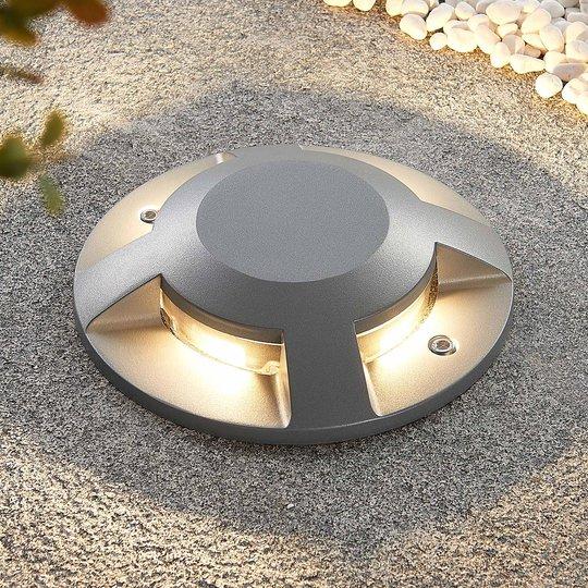 Lucande Jeffrey LED-lattiaspotti, 4-lamp.