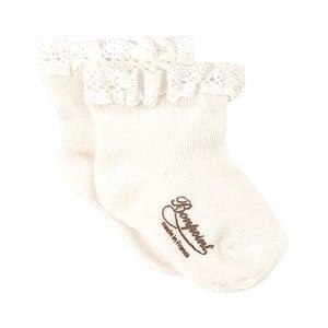 Bonpoint White Frill Socks 3 mån