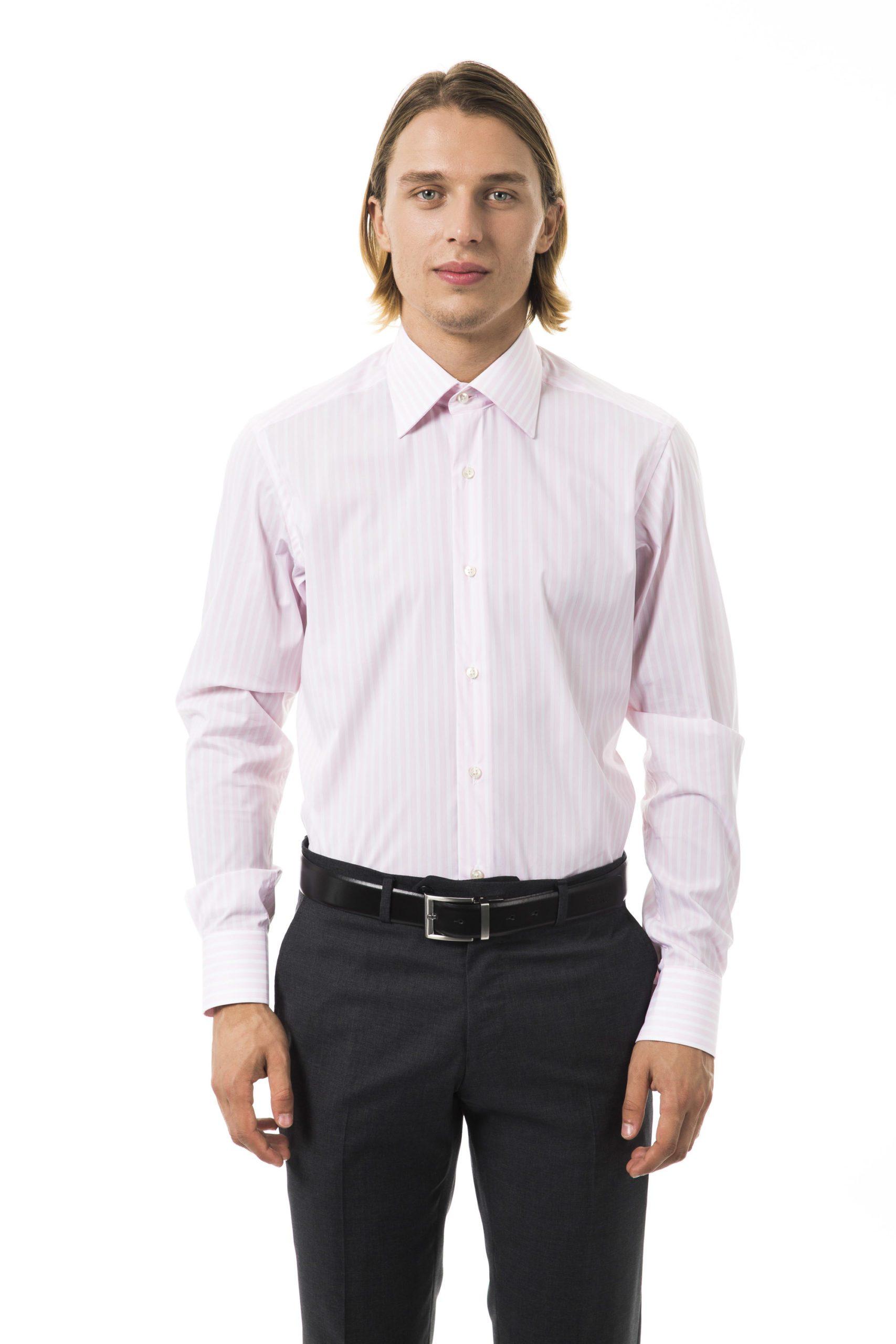 Uominitaliani Men's Rosa Shirt Pink UO1394773 - M
