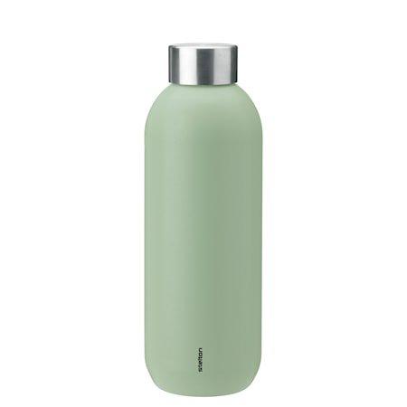 Keep Cool vacuum drinking bottle, 0,6 l. - seagrass/steel