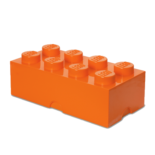 Room Copenhagen - LEGO Storeage Brick 8 - Orange