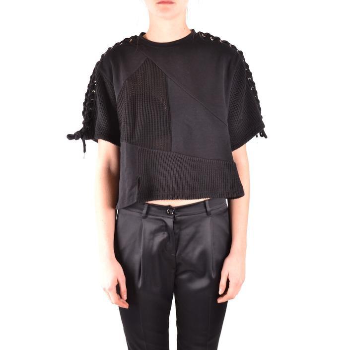 Alexander Mcqueen Women's Sweatshirt Black 166069 - black XS