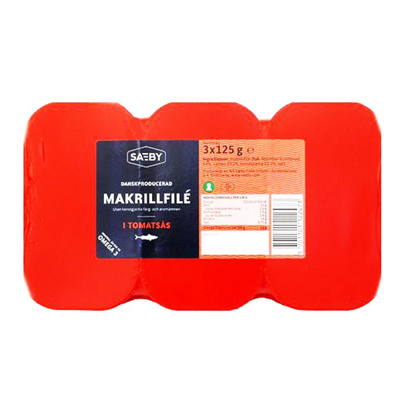 Makrill Tomatsås 3 x 125g - 9% rabatt