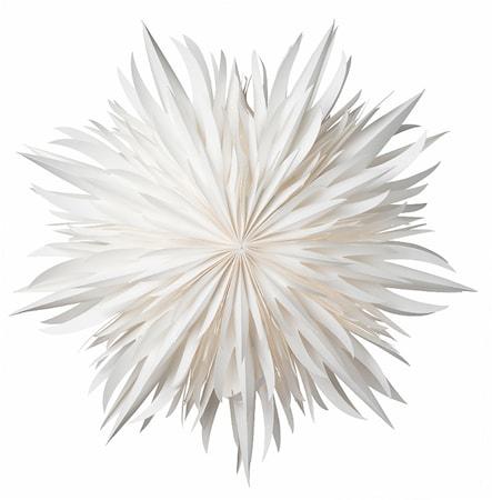 Eldig Pappersstjärna Vit 52 cm