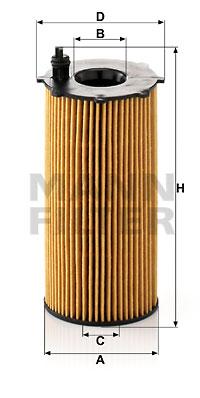 Öljynsuodatin MANN-FILTER HU 820/2 x