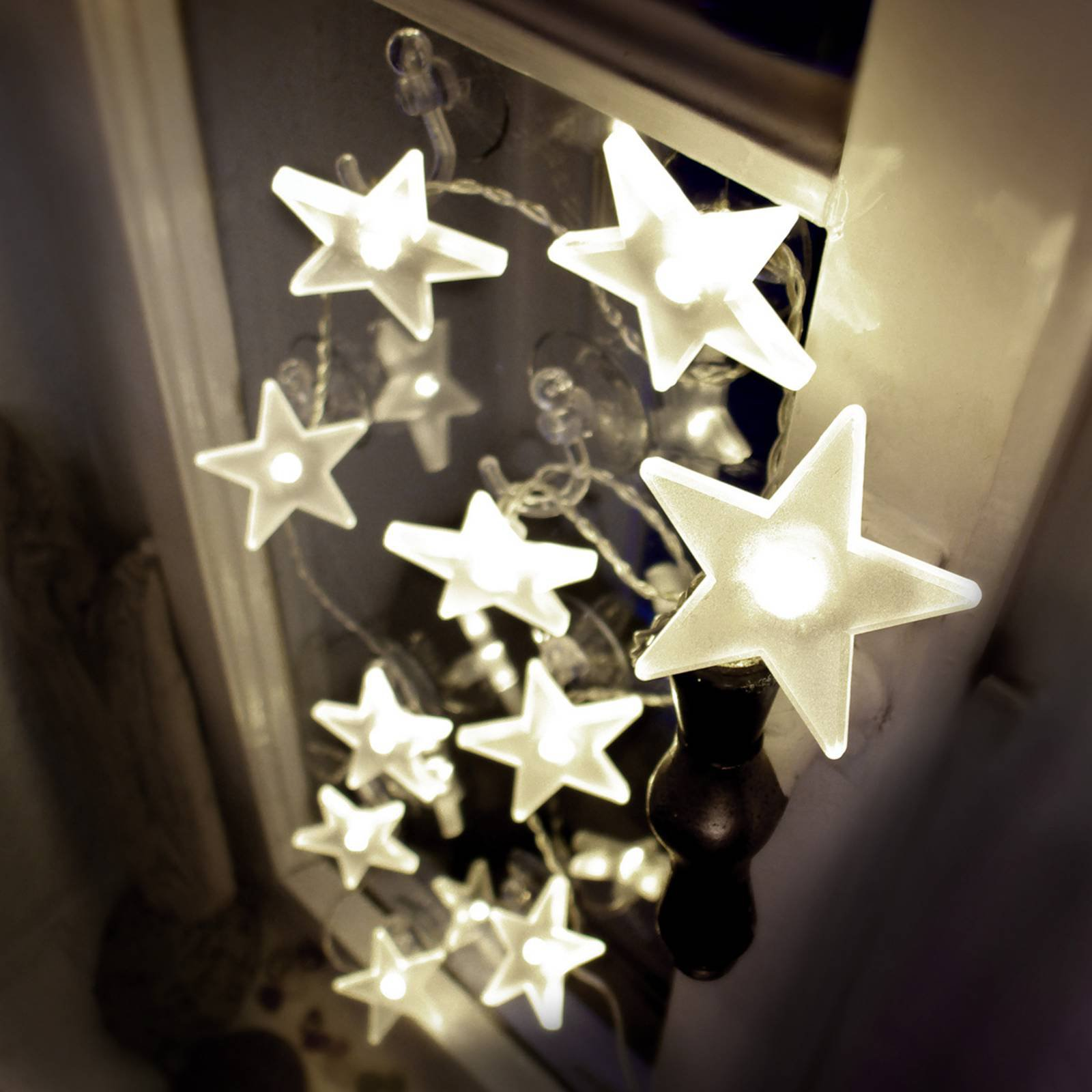 Den tiltalende LED-stjerne-lyslenken, matt, 2 m