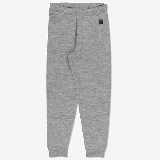 Bukse ullfrotté gråmelange