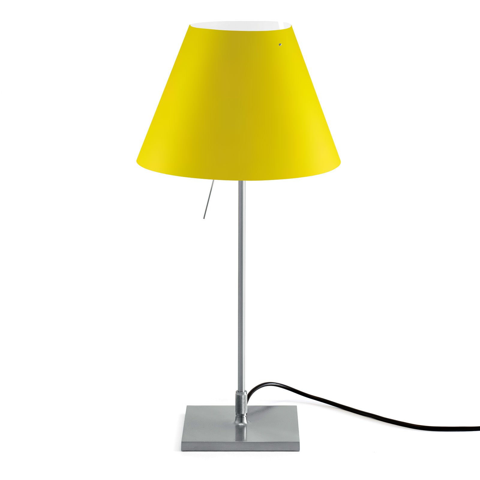 Luceplan Costanzina bordlampe alu, kanarigul