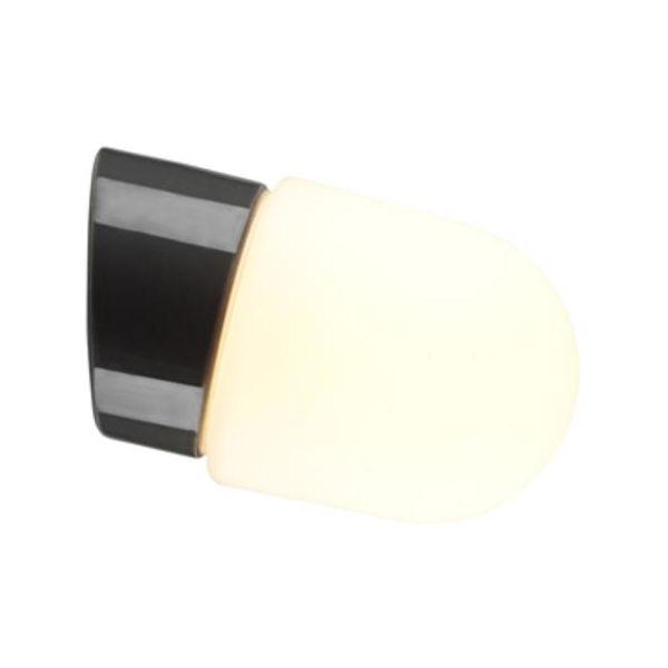 Ifö Electric Contrast Fridhem Seinävalaisin harmaa, viisto, IP54, LED