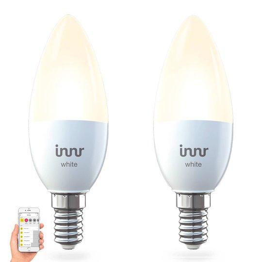 E14 5,3 W LED-pære Innr Smart Candle White, 2er