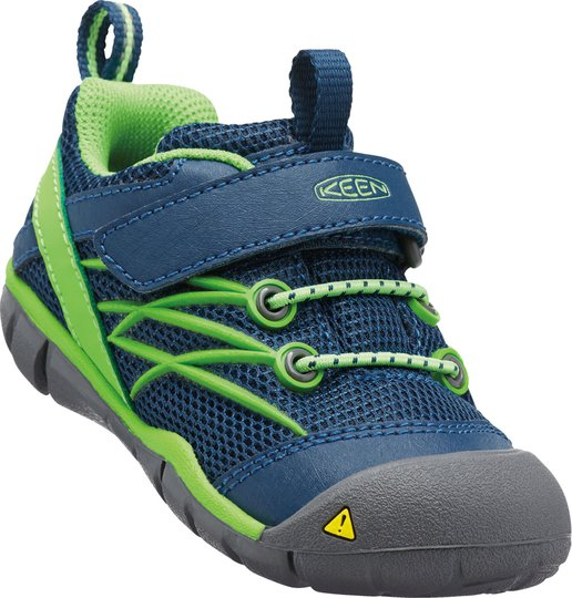 KEEN Chandler CNX Tots Sneaker, Poseidon/Jasmine Green 19
