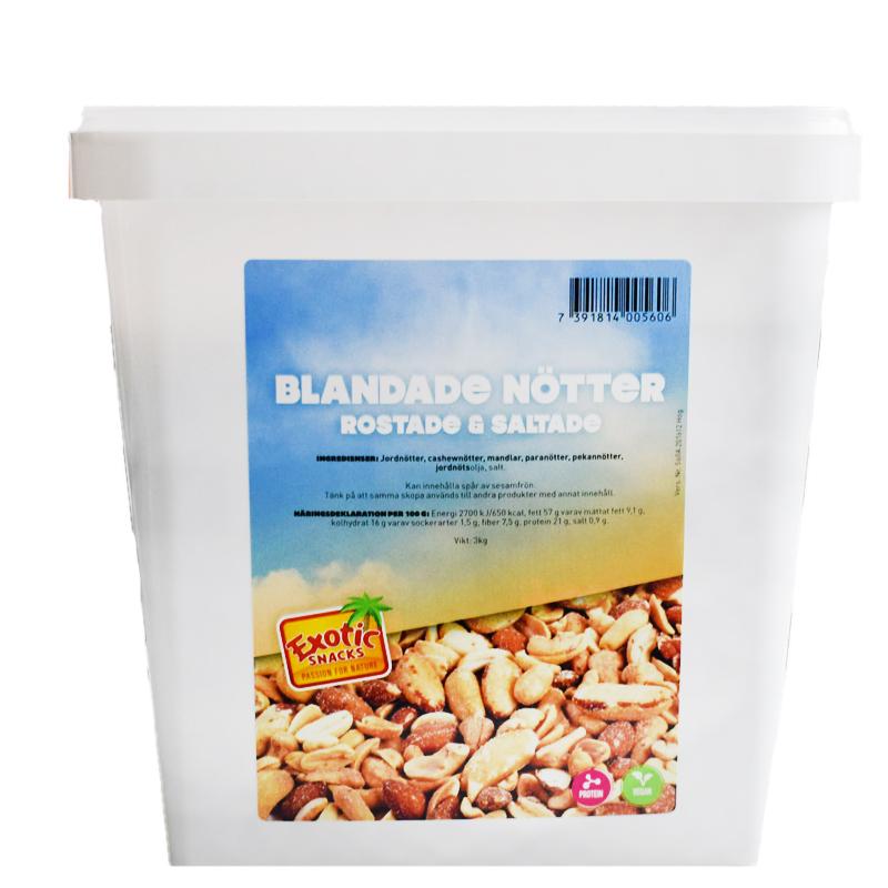 Nötter Blandade Rostade & Saltad - 57% rabatt
