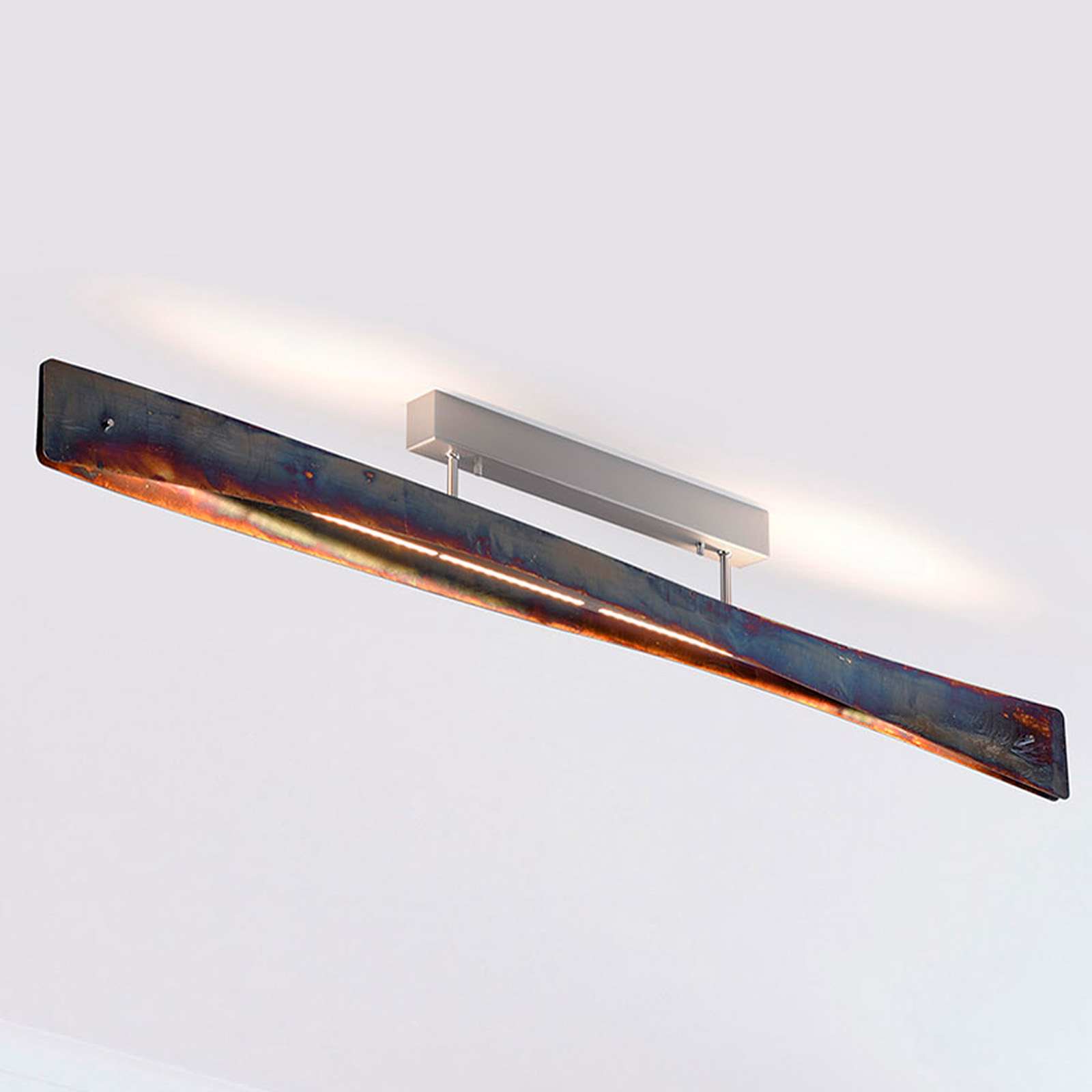 Lucande Lian LED-kattovalaisin, oksidoitu kulta