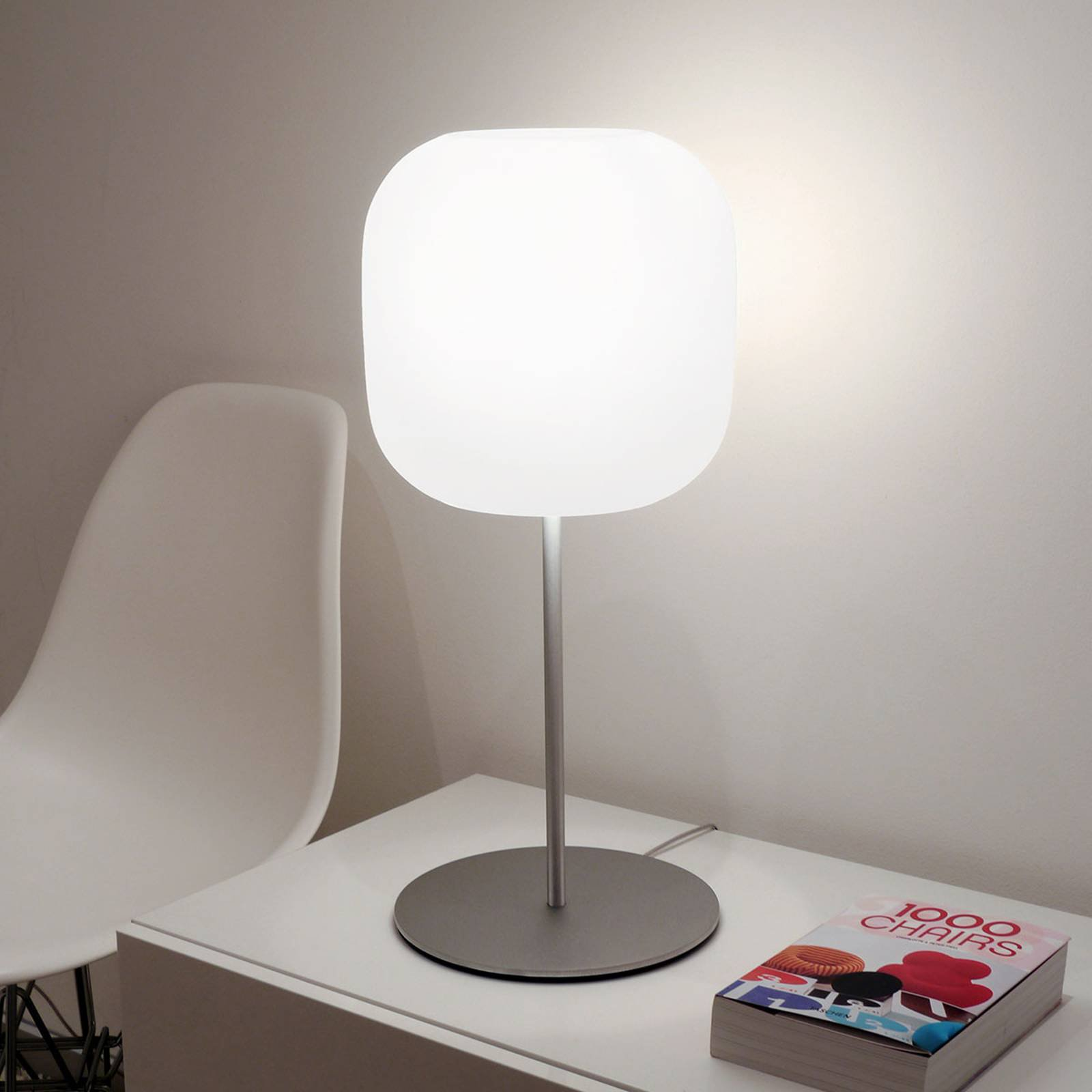 Casablanca Murea glass-bordlampe med dimmer