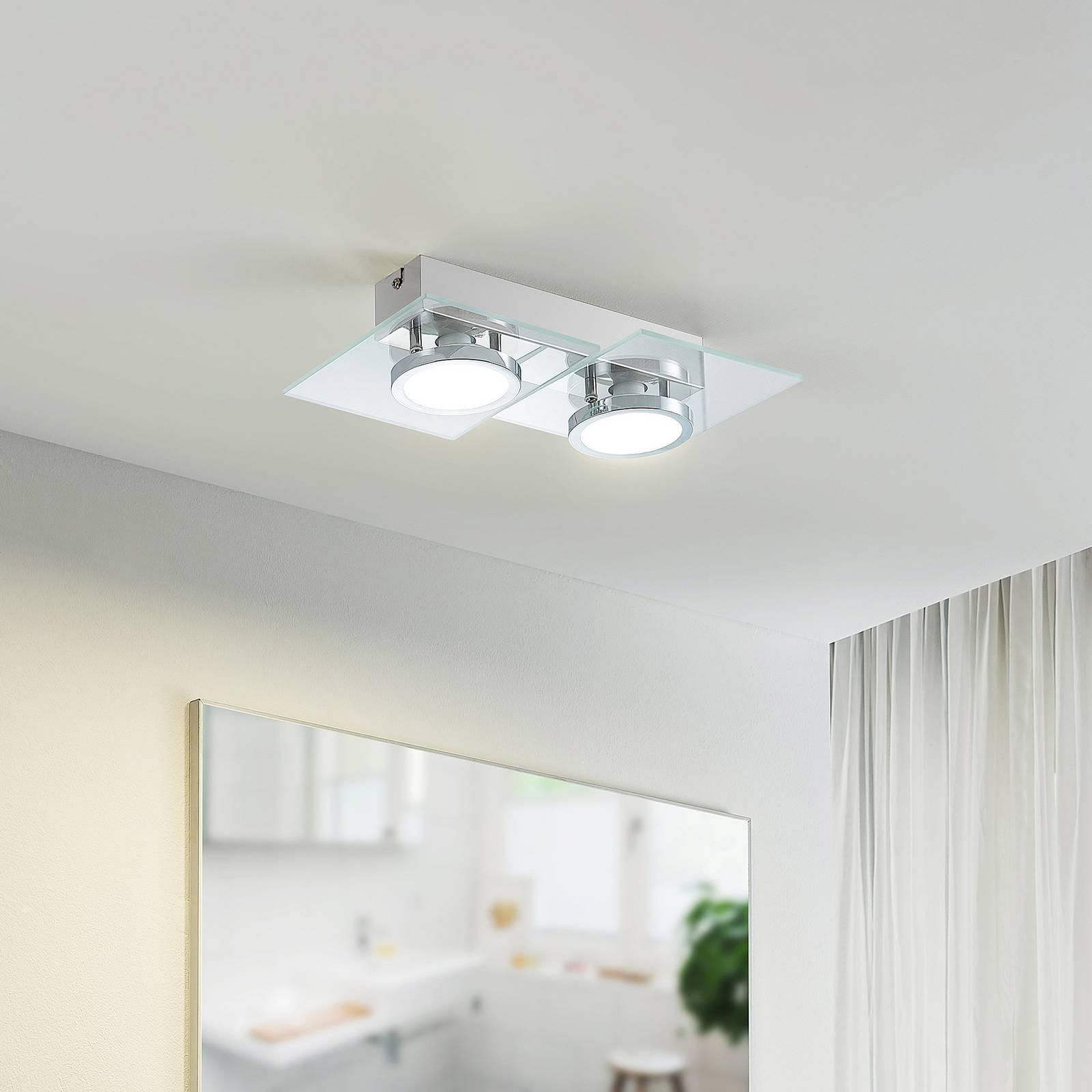 Lindby Imiria -LED-kattovalaisin, 2-lamppuinen