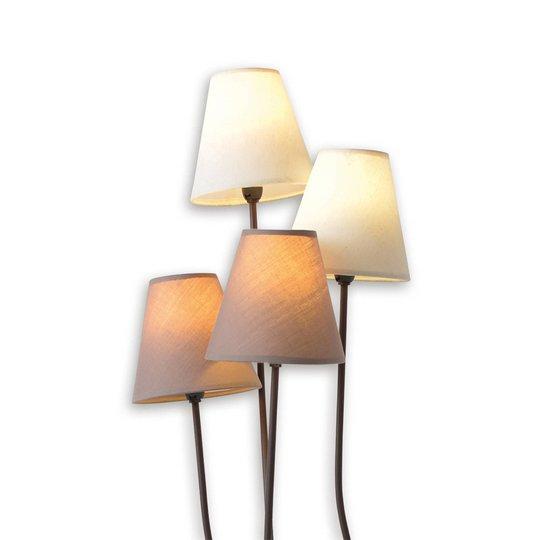Twiddle - stålampe med fire tekstilskjermer
