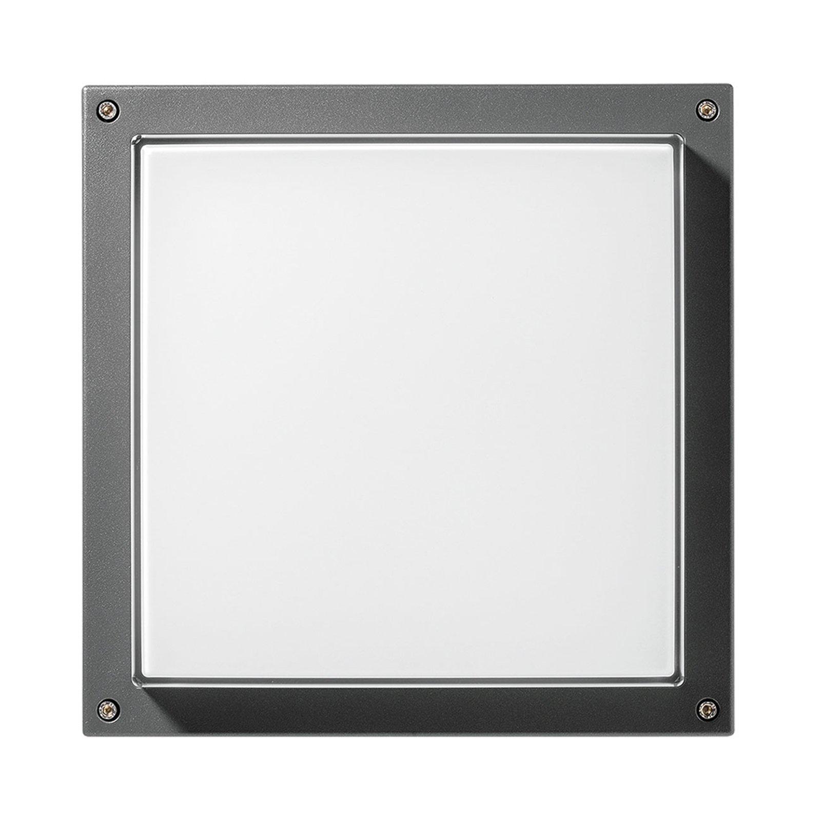 LED-vegglampe Bliz Square 40, 3 000 K, antrasitt