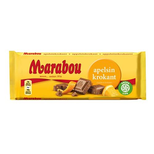 Marabou Apelsinkrokant - 100 gram