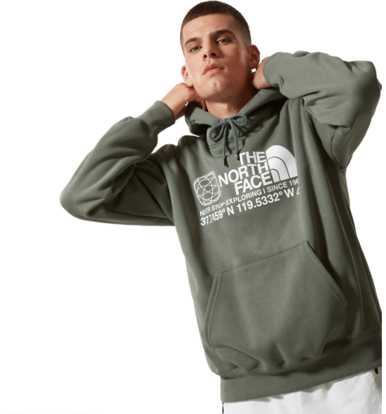 The North Face M Coordinates P/o Hoodie Hoodies AGAVE GREEN
