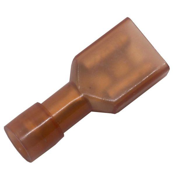 Abiko KA1507FLSF-CP Kaapelikenkä lattaliitinhylsy, täysin eristetty 10 kpl