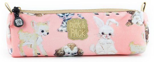 Pick & Pack Pennal Cute Animals, Coral