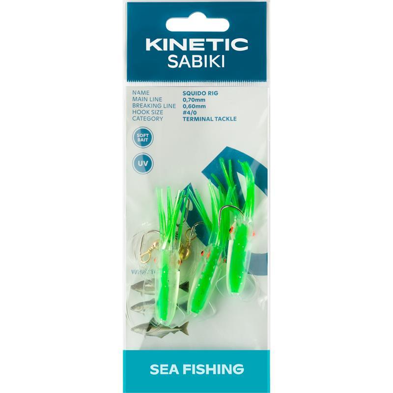 Kinetic Sabiki Squido #4/0 Hot Green