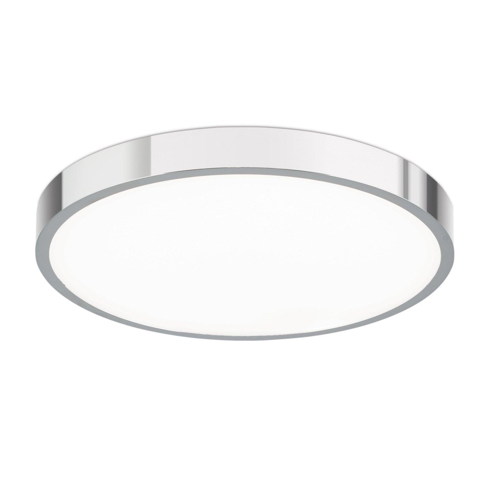LED-taklampe Bully, krom 24 cm