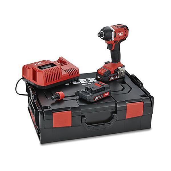 Flex ID 1/4 18.0 Set Slagskrutrekker med batterier og lader