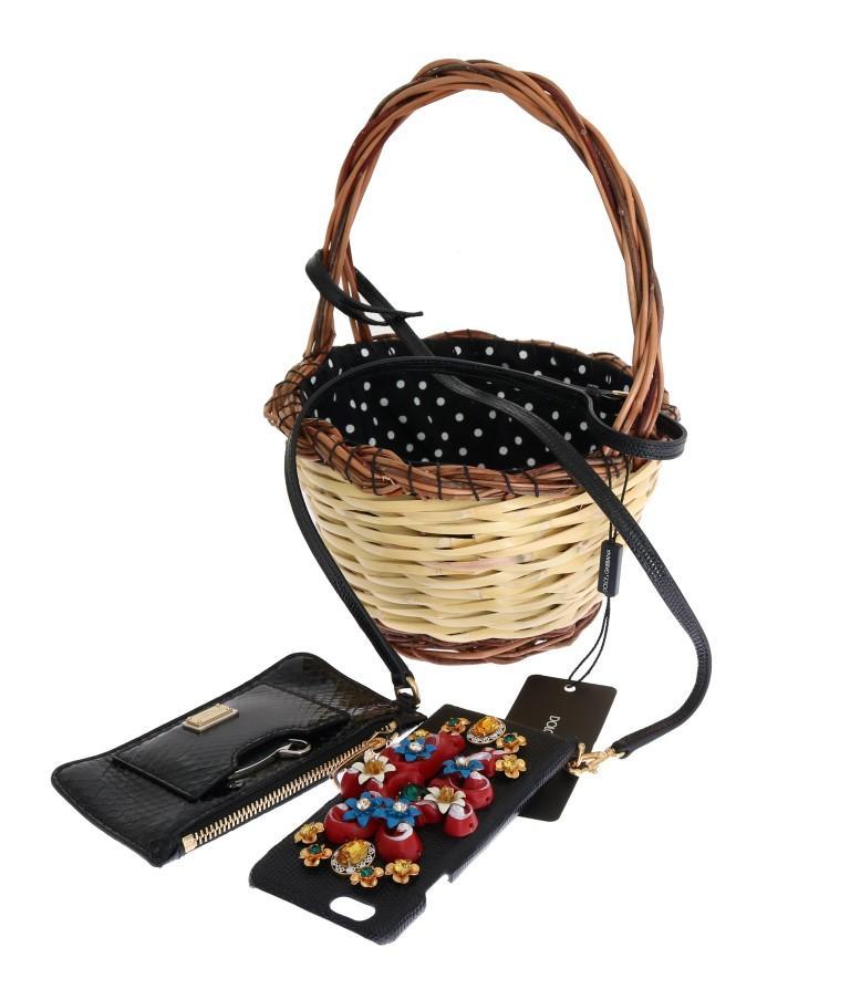 Dolce & Gabbana Women's Snakeskin Agnese Bag Beige VAS1256