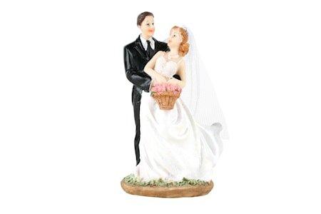 Cacas Kakedekorasjon Dansende Brudepar 13 cm