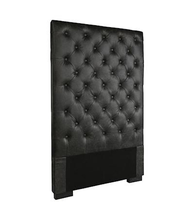 VIENNA headboard 90cm black leather