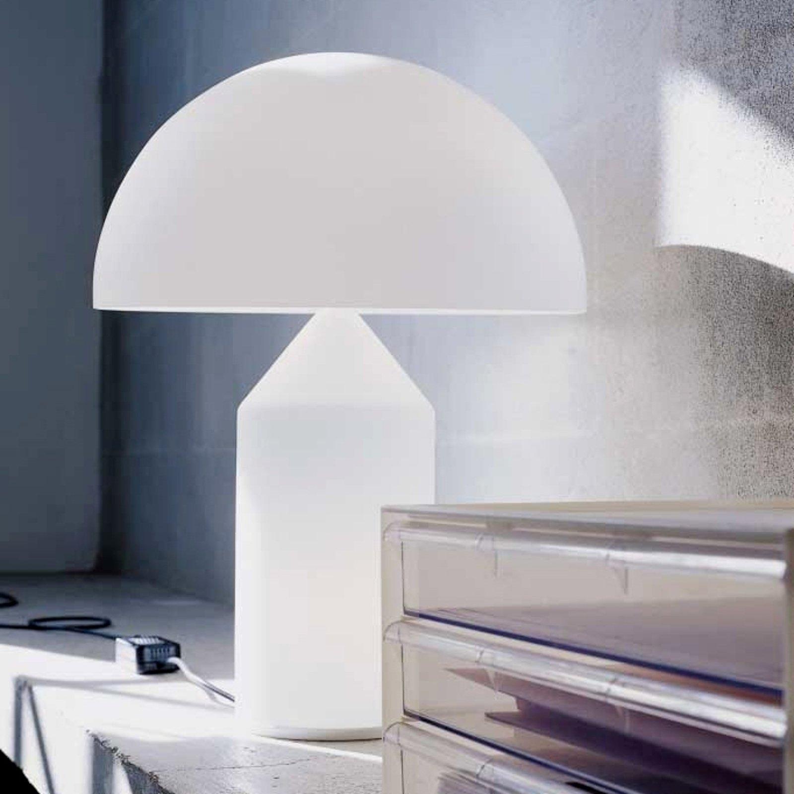Bordlampe Atollo med Muranoglass, 70 cm.