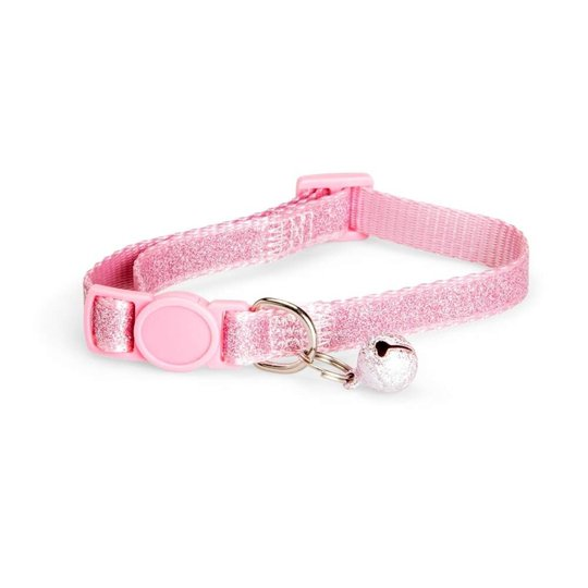 Basic Cat Sparkly Halsband Rosa