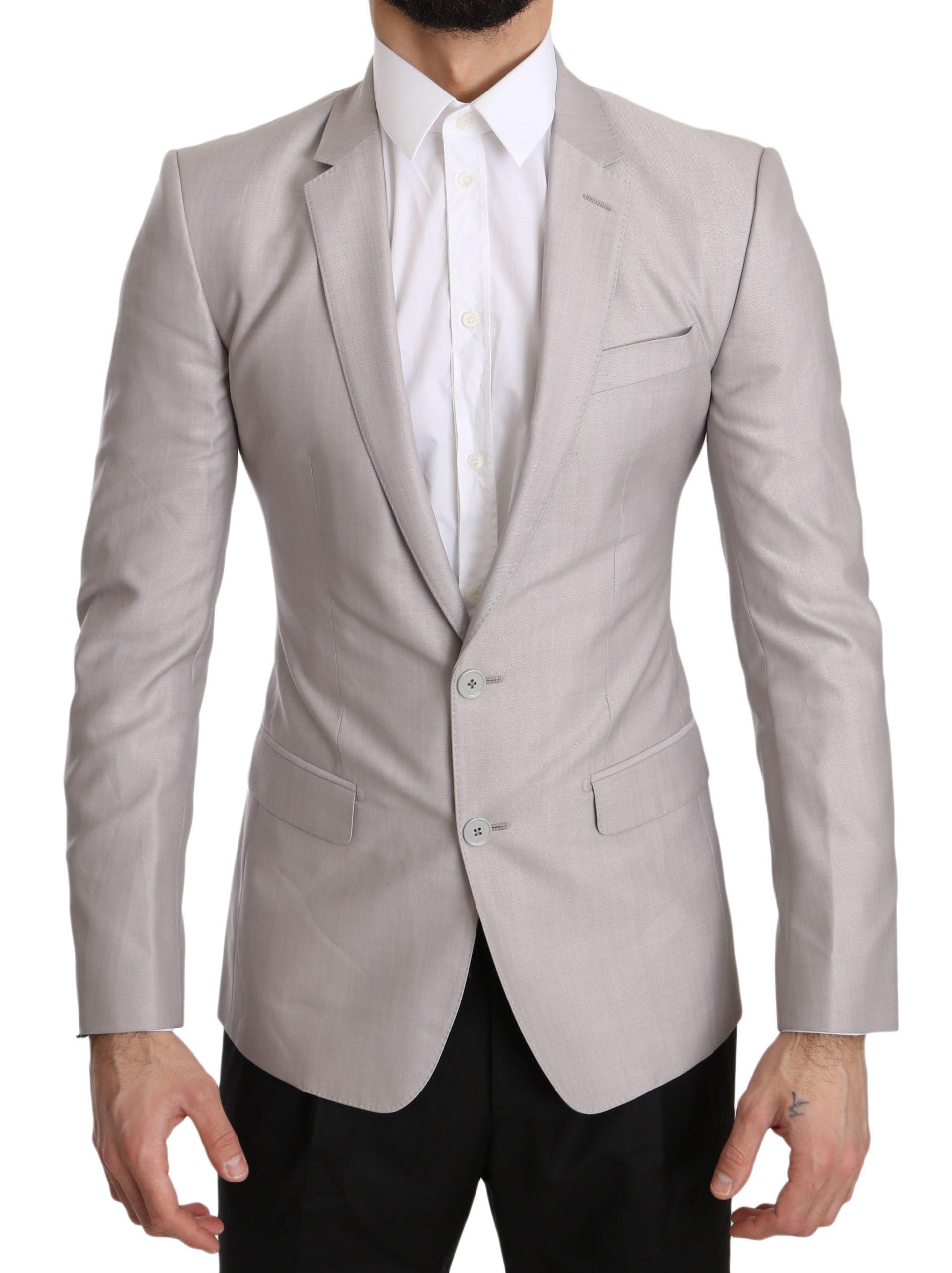 Dolce & Gabbana Men's Wool Slim Fit Blazer Silver JKT2433 - IT44   XS
