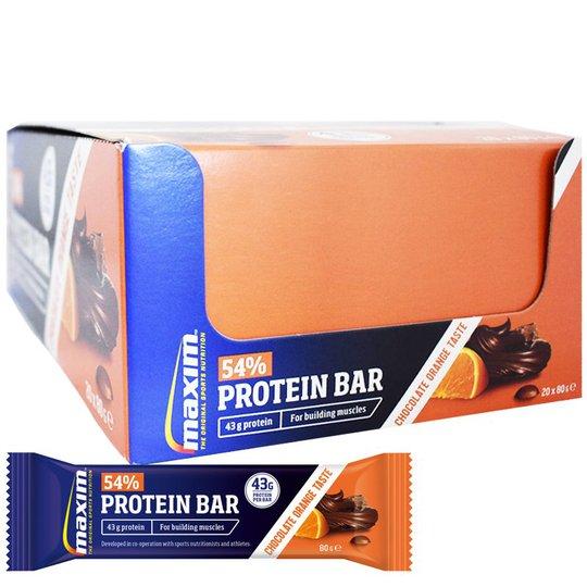 "Hel Låda Proteinbars ""Chocolate & Orange"" 20 x 80g - 54% rabatt"