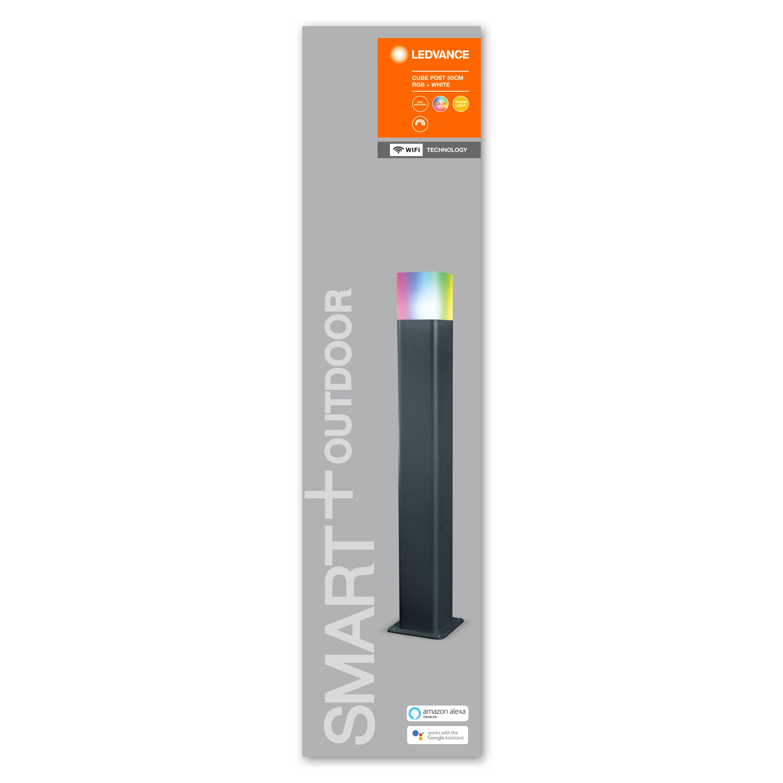 Ledvance - Smart+ Outdoor Cube RGBW - Post Light 50 cm