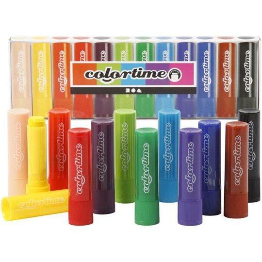 Colortime Soft Color Stick Blandede Farger, 12 stk