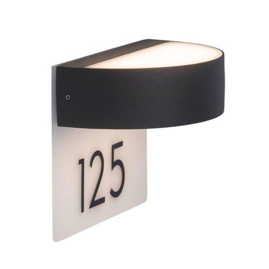 Tyylikäs talonnumeron LED-valaisin Monido