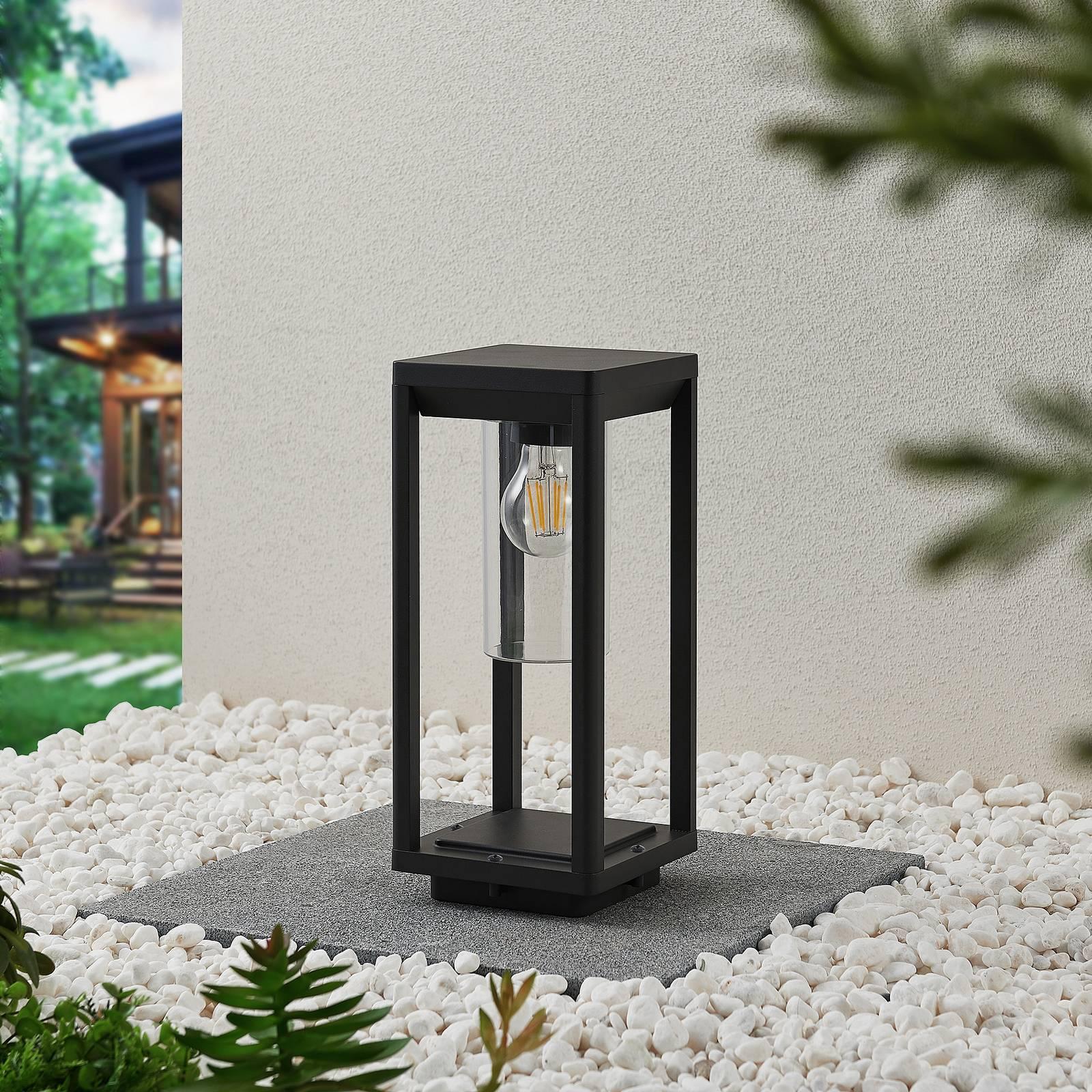 Lindby Estami -pollarilamppu, 35 cm, tummanharmaa