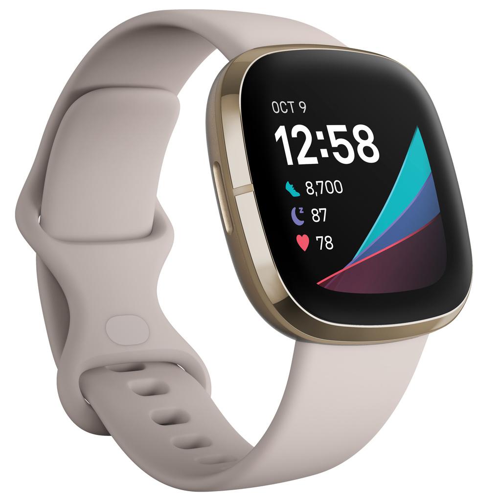 Fitbit - Sense Advanced Smart Health Smartwatch - White/Soft