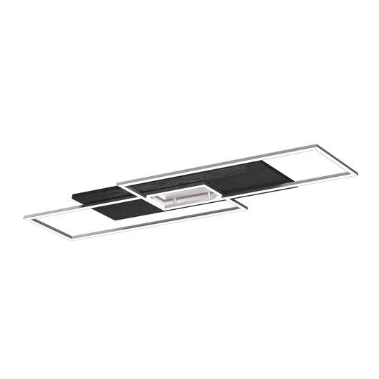 LED-taklampe Panama XL, svart eik