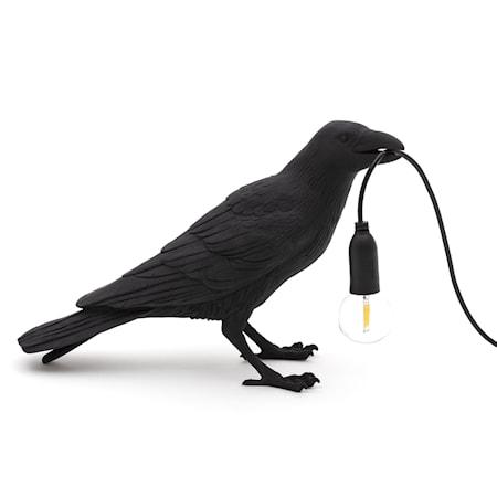 Bird Lamp Waiting Svart