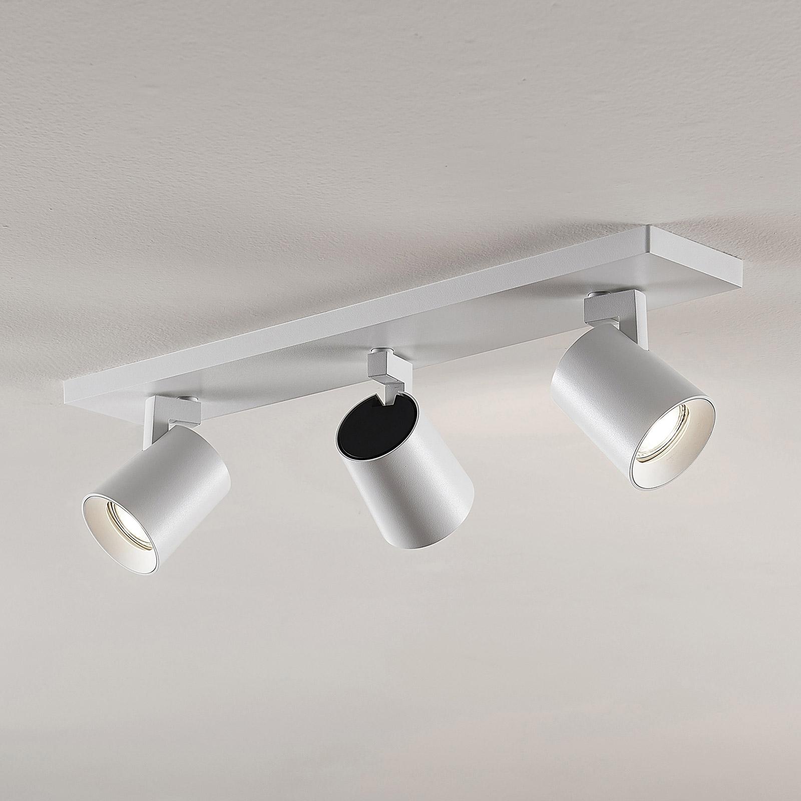 Kattokohdevalo Iavo säädettävä valkoinen 3 lamppua
